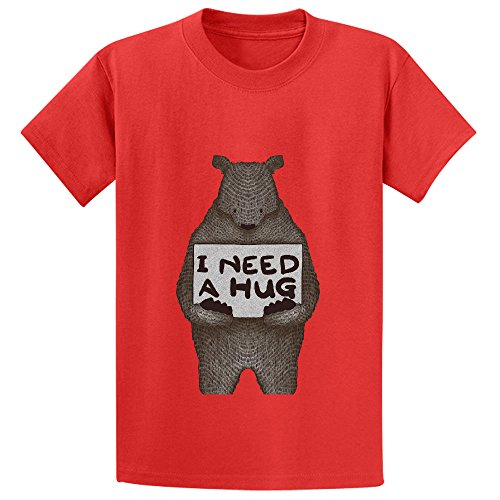 i-need-a-hug-girls-crew-neck-short-sleeve-t-shirt-red