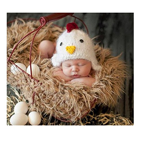 Fashion Cute Newborn Boy Girl Baby Costume Knitted Photography Props Chick Hat ()