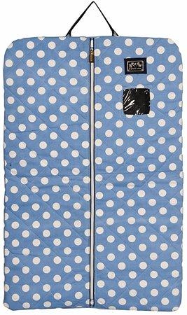 Equine Couture Emma Garment Bag, Light Blue/Navy, Standard