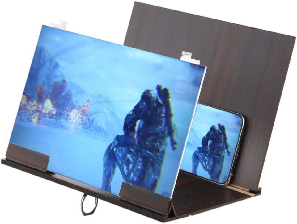 George zhang Universal Plegable portátil de Madera Eyeshield 3D Video Pantalla del teléfono móvil Soporte de Lupa Ampliar con Soporte Protector de luz: Amazon.es: Deportes y aire libre