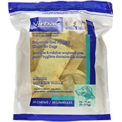C.E.T. Enzymatic Oral Hygiene Chews for Small-Medium Dogs (11-25 Pounds) by Virbac