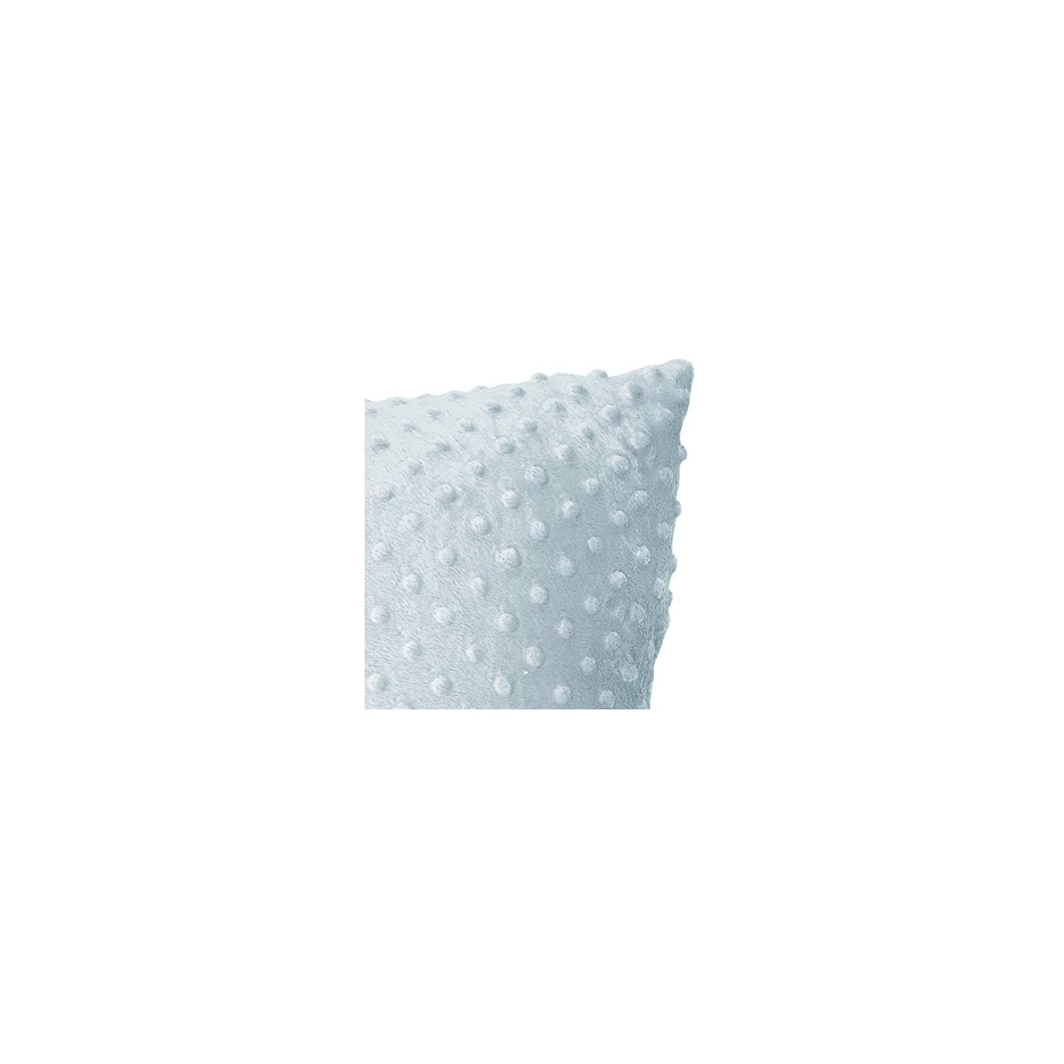 Baby Doll Bedding Heavenly Soft 2 Piece Crib Throw Pillow, Blue