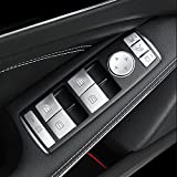 JessicaAlba Car Window Glass Lift Button Trim Cover Sticker Fit Mercedes Benz A/B/C(W204)/E(W212)/GLA/CLA/GLK/GL/ML/GLE-Class