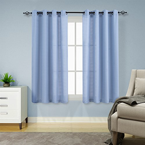 light blue curtains 63 inch - 5