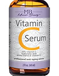 DOUBLE SIZED (2 oz) PURE VITAMIN C SERUM FOR FACE 20%...