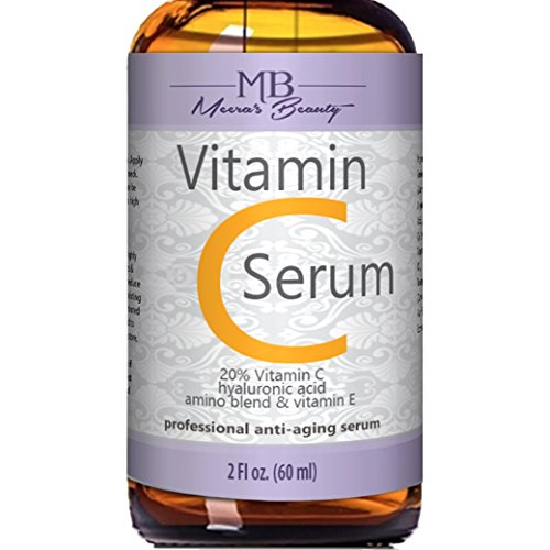 514p4SYy3iL - DOUBLE SIZED (2 oz) PURE VITAMIN C SERUM FOR FACE 20% With Hyaluronic Acid - Anti Wrinkle, Anti Aging, Dark Circles, Age Spots, Vitamin C, Pore Cleanser, Acne Scars, Organic Vegan Ingredients