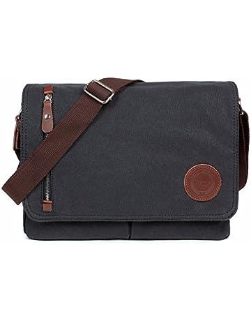 f934b040b64 LOSMILE Mens Canvas Messenger Shoulder Bag.