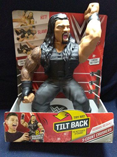 Mattel WWE SuperStar Large Roman Reigns Action Figure 3-Count Crushers With 8 Sounds & Phrases With Pro-Flex Material For Safe Play New In Unopened Box by Matt
