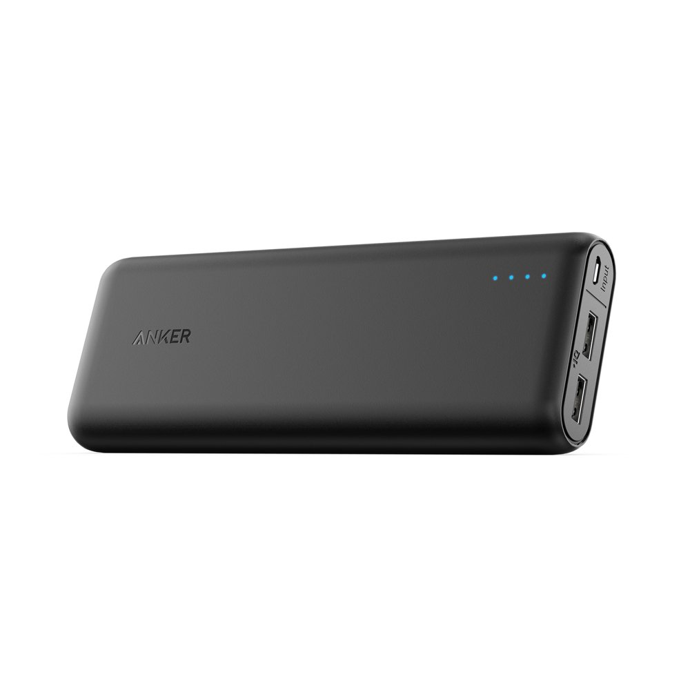 Portable Charger Anker PowerCore 20100mAh - Ultra High Capacity Power Bank with 4.8A Output and PowerIQ Technology, External Battery Pack for iPhone, iPad & Samsung Galaxy & More (Black) by Anker