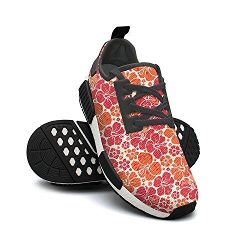 Shoes Nmd Women Hibiscus Running Sport For Hardy Flowers Outdoor Shoes 74wfqnxURt