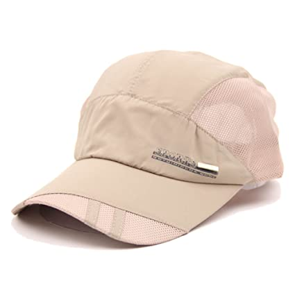 95ebfb25358 Image Unavailable. Image not available for. Color  TOOGOO(R) Fashion Mens  Summer Outdoor Sport Baseball Hat Running Visor Cap Beige