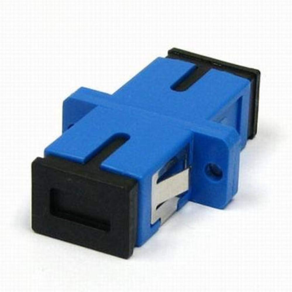 50 Pack Pier Telecom Fiber Optic Adapter SC-UPC Simplex Singlemode SM 9//125 Blue for Fiber Optic Enclosure Panel