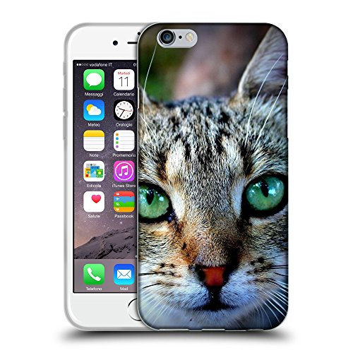 """Just Phone Cases Coque de Protection TPU Silicone Case pour // V00004231 Chat aux yeux verts expressifs // Apple iPhone 6 6S 6G PLUS 5.5"""""""