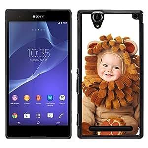 Caucho caso de Shell duro de la cubierta de accesorios de protección BY RAYDREAMMM - Sony Xperia T2 Ultra - Desgaste lindo del bebé