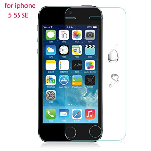 Shopway 2.5D Smooth Curved Edge 0.3 MM Front Tempered Glass Screen Protector Guard For Apple Iphone 5/5C/5S