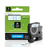DYMO Standard D1 Labeling Tape for LabelManager Label Makers, Blue print on White tape, 1/2'' W x 23' L, 1 cartridge (45014)
