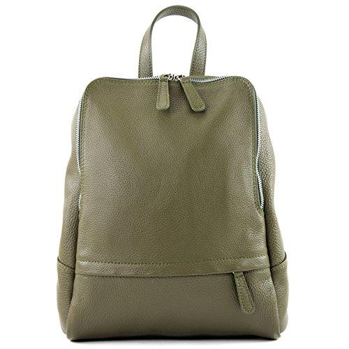 Olivgrün Citybag Borsa Donna Modamoda Zaino T138 Pelle In De Ital WwpUvxUq4T