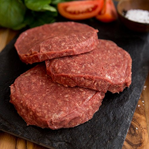 40 (4oz) Organic, Grass-Fed Beef Patties - USDA certified organic, all natural, grass fed beef patties from american farmers by Greensbury Market