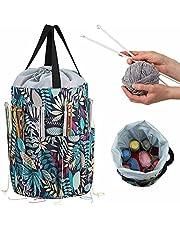 Yarn Storage Handbags, Large Knitting and Crochet Bags, Sewing Organizers, Knitting Handmade DIY Household Storage Bags, Wool Storage Bags, Sewing DIY Craft Supplies