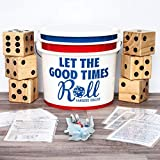 6 GIANT dice & tossing bucket PERSONALIZED. Score cards included. 25 ALL ages games. Jumbo Yahtzee & Farkle... Wood Yardzee Deluxe up to 12 PLAYERS. Wedding gift, receptions, Family night, parties...