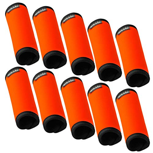 - Hibate Soft Neoprene Luggage Handle Wrap Grips Tags - Fluorescent Orange, Pack of 10