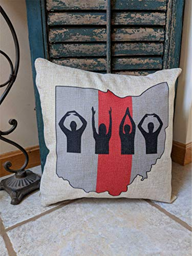 alerie Sassoon The Ohio State University Buckeyes Buckeye Nation Gift State of Ohio Pillowcase Cushion Ohio State Pillowcase Cushion Buckeyes Pillowcase Cushion OSU Buckeyes Gift