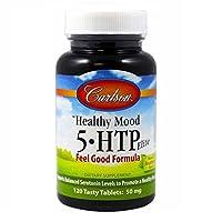 Carlson Healthy Mood 5-htp Elite 50mg Raspberry Chewables, 120 Tablets