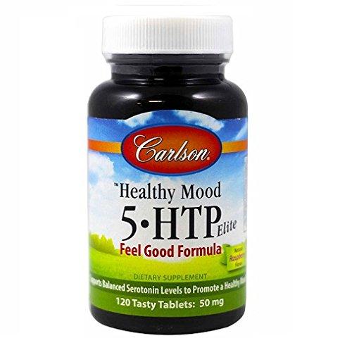 Carlson Healthy Mood 5-htp Elite 50mg Raspberry Chewables, 120 Tablets by Carlson