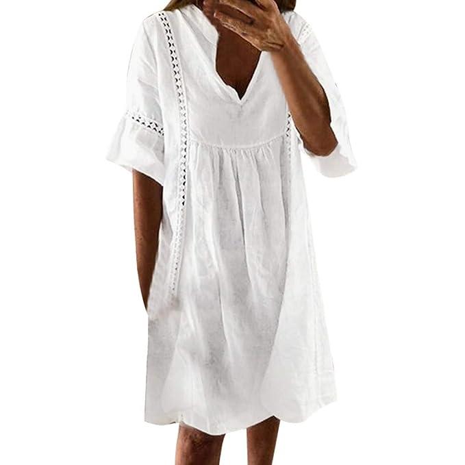 Vestidos de Verano Cortos SUNNSEAN Falda Mujer Vestido ...
