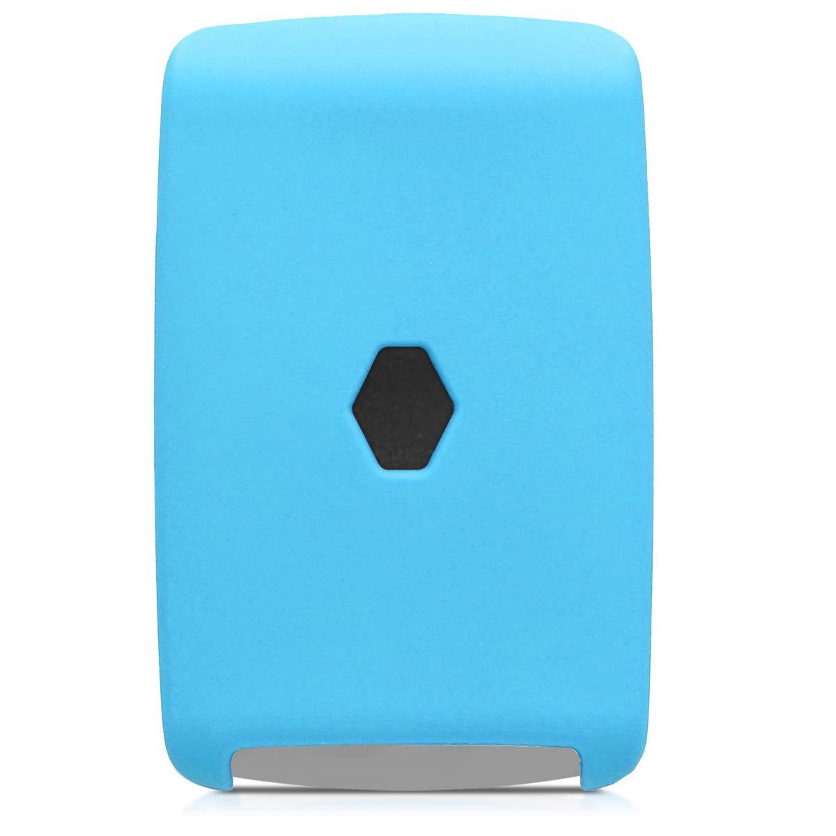 kwmobile Funda de Silicona para Llave Smart Key de 4 Botones para Coche Renault Solamente Keyless Go Silicona Naranja - Case Mando de Auto - Carcasa Protectora de Suave
