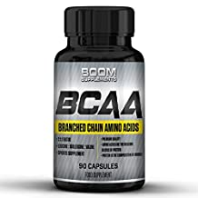 BCAA Capsules | #1 Rated BCAA Amino Acids | Powerful BCAA Supplements | 90 BCAA Pills | 1 Month Supply | Aids In Muscle Growth, Speed Up Recovery, Boost Metabolsim And Increase Weight Loss | Maximise Your Workouts With Ultimate Mental Focus | Safe And Effective | Best Selling BCAA Tablets | Manufactured In The UK!