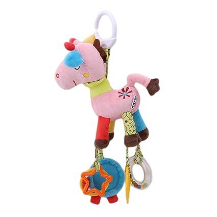 Colgante para cochecito de bebé con diseño de huevo rosa, juguete para niños y bebés
