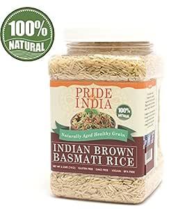 El orgullo de la India - Extra Largo Brown arroz basmati indio ...