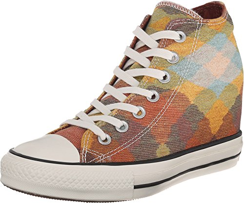 Converse Womens Chuck Taylor All Star Lux Missoni Wedge Casual Sneakers Auburn/Yellow 549688C 8 M US