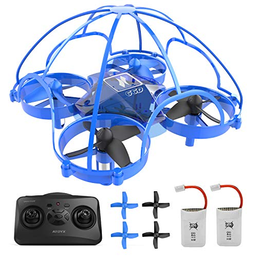 ATOYX Kids Drone, Hand Operated/ RC Nano Quadcopter Mini Drone for Beginners, Easy Indoor Small UFO Flying Drone Toys…