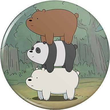 Amazon Com We Bare Bears Bear Stack Pinback Button Pin Clothing
