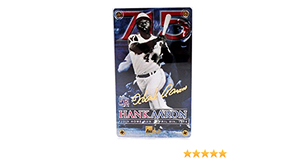 Authentic Images Hank Aaron 24K Gold Signature Card 715th Home Run