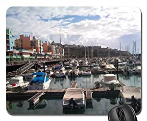 Albufeira harbour from afar Mouse Pad, Mousepad (Houses Mouse Pad)