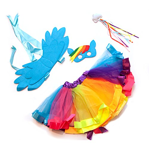 Rainbow Magical Fairy Flying Unicorn (Unicorn Costume Girls)