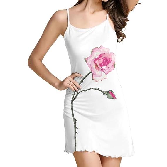 Vestido de Mujer, ❤ Manadlian Mujeres de la Vendimia Fresca Floral de Impresión sin Mangas Jardín Beach Mini Vestido de Noche: Amazon.es: Ropa y ...