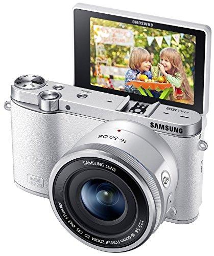 SAMSUNG サムスン NX3000 スマート Wi-Fi 搭載 20.3MP デジタルカメラ OIS Power Zoomレンズ 16-50mm レンズキット(White ホワイト 白)