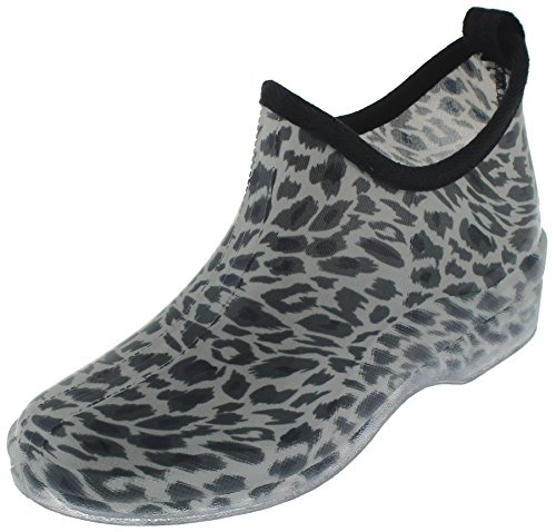 Capelli New York Ladies Animal Printed Slip-On Booties Ivory Combo 10