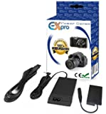 Ex-Pro® Replacement Fuji AC Power Supply Adapter & Battery coupler kit [CP-W126 CP W126 16240872 included] for Fuji HS30 EXR, HS33 EXR, HS50 EXR, HS50 EXR, X-A1, X-E1 X-E2, X-M1, X-Pro1, X-T1