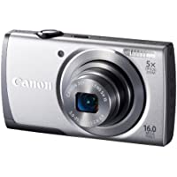 Canon Digital Camera PowerShot A3500 IS 5 times zoom PSA3500IS (Silver) 28mm wide-angle optical (SL) - International Version (No Warranty)