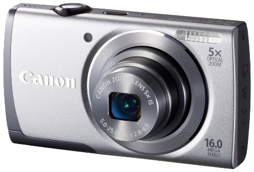 Canon Digital Camera PowerShot A3500 IS 5 times zoom PSA3500IS (Silver) 28mm wide-angle optical (SL) – International Version (No Warranty)