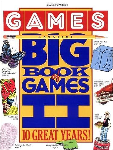 Book Games Magazine Big Book of Games II: 10 Great Years!