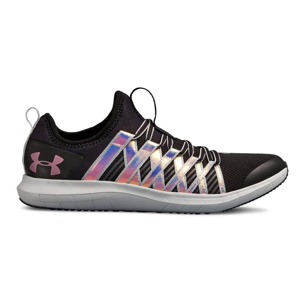 Under Armour Girls' Grade School Infinity HG Sneaker, (001)/Black, 3.5