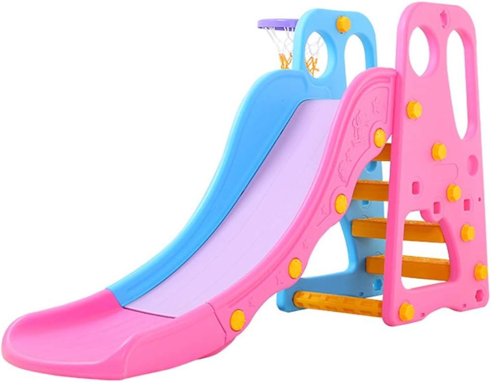 ブランコ 子供用の屋内用スライド 家庭用スライド 拡張肥厚 玩具の組み合わせ 幼稚園 遊び場 環境に優しい素材 (Color : Pink, Size : 170*45*106cm)