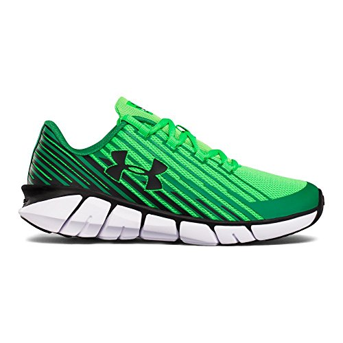 Under Armour Boys' Boys' Grade School X Level Scramjet Remix, Lime Twist (301)/Classic Green, 5.5 by Under Armour