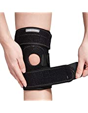 Camelsports Women's/Men's Knee Brace Support Protector - Neoprene of Open Patella Knee Stabilizing Wraps with Adjustable Hook and Loop Strap for Arthritis, ACL, MCL, LCL, Sports, Meniscus Tear